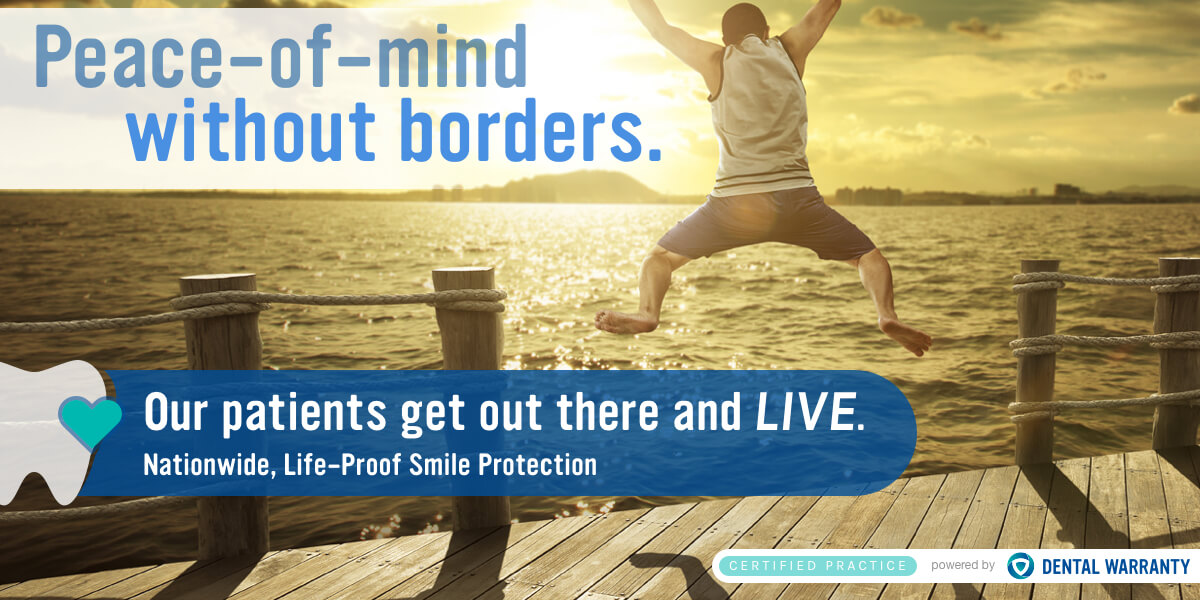 Peace-of-mind without borders banner. Our patients get out there and Live. Nationwide, life-proof protection.